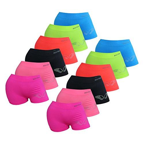 PiriModa 6/12 Pack Kinder Mädchen Pantys Boxer Unterhose Panty Unterwäsche Mikrofaser Boxershorts Slips Schlüpfer 2-16 Jahre 92-170 (152-164 (12-14Jahre), Modell 5-12 STÜCK)