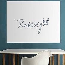Rabbitgoo® Pizarra blanca adhesiva pizarrón blanco autoadhesivo pegatina de pared,Color Blanco con 1 rotulador gratis,muy largo por 44.5*200cm profundidad 0.18mm para hogar escuela,colegio,oficina o casa