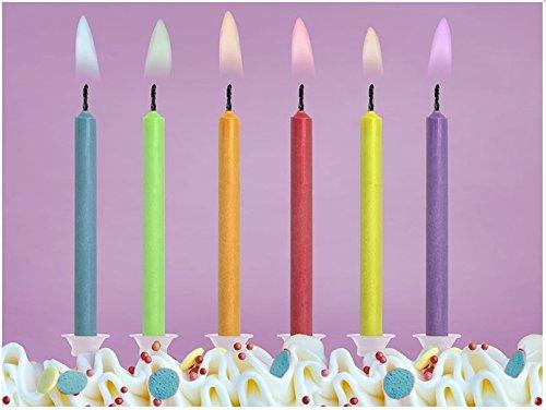 CANDELE-candeline-COLORATE-fiamma-MULTICOLOR-decorazione-TORTA-compleanno-FESTA