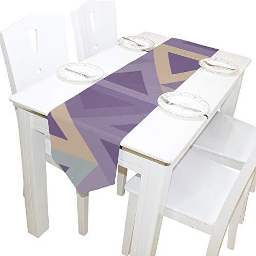 Yushg Gelbes Dreieck Geometrische Form Kommode Schal Stoffbezug Tischläufer Tischdecke Tischset Küche Esszimmer Wohnzimmer Home Hochzeitsbankett Dekor Indoor 13x90 Zoll (Deco-tv-ständer)