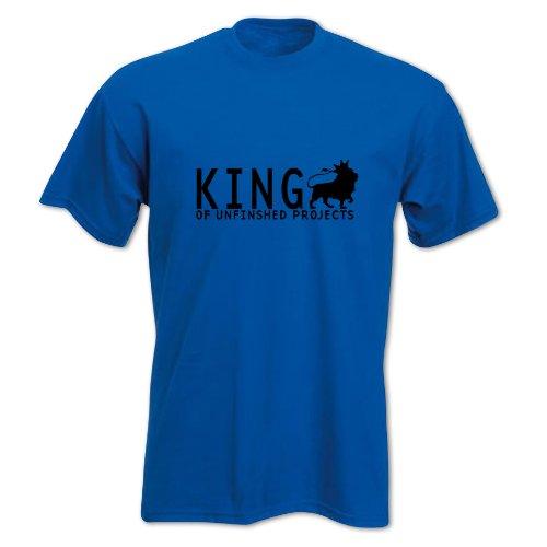Herren Vatertag KÖNIG DER UNFERTIGEN PROJEKTE T-Shirt Blau