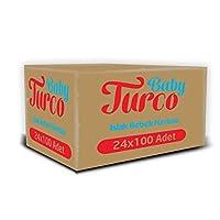 Baby Turco Islak Havlu Mendil 24'Lü Paket, 2400 Yaprak, Plastik Kapaklı