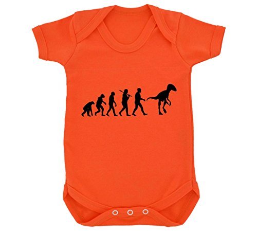 iraptor Design Baby Body Orange mit Schwarz Print Gr. 6-12 Monate, Orange ()