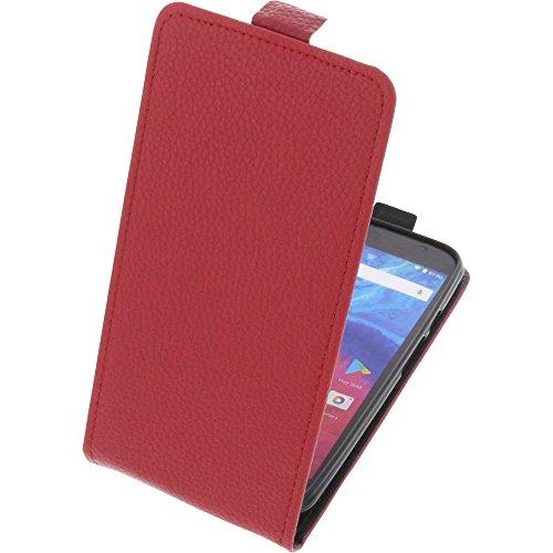 foto-kontor Tasche für Archos Core 55 Smartphone Flipstyle Schutz Hülle rot