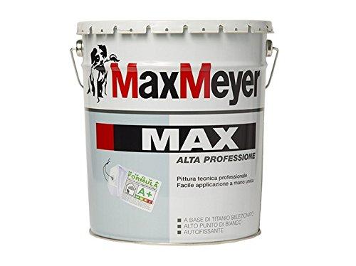IDROPITTURA 'MAX A+' nuova formula a base di titanio Alta Professione 14 LT super lavabile ad elevatissima copertura, opacità e riempimento