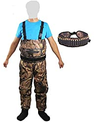 Kylebooker Camuflaje Bionic Impermeable Vadeador de Pecho Pesca Caza Waders Pantalones Ropa Transpirable Ghillie Traje con