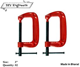 DIY Engineers G Clamps Toughned Iron (3-inches)- Set of 2
