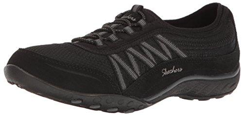 Skechers Damen Breathe Easy - Point Taken Sneaker Schwarz (Black) 36 ()