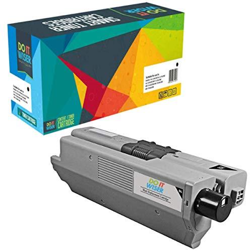 Do it Wiser Kompatible Toner als Ersatz für Oki C531DN MC562 MC562DNW C511DN C510 C510DN C511 C530DN C531 MC561 MC561DN MC562DN MC562W 44469804 (Schwarz)