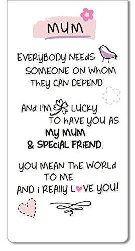 Mum I Love You Inspired Words Magnetic Bookmark Sentimental Gift Range