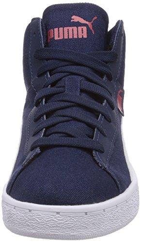 Puma Puma '48 Mid Cv, Baskets hautes mixte adulte Bleu - Blau (peacoat-white 02)