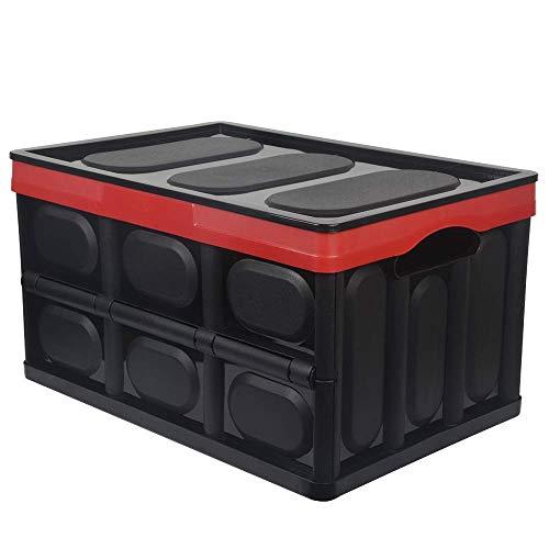 KinHwa Borsa per Bagagliaio Organizer Organizer per Auto Cassa Pieghevole per SUV casa del Veicolo dell'automobile Multiuso Materiale PP Colore - Nero