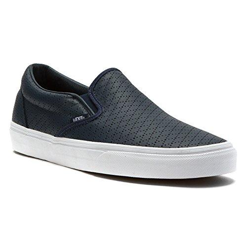 Vans  U Classic Slip-On, Bottes Classiques Unisexe adulte Bleu - Navy Blue/White