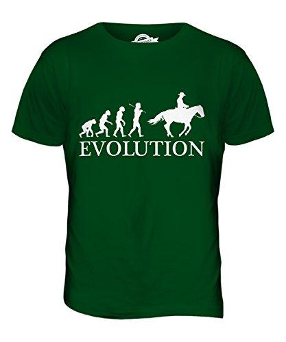 CandyMix Wilder Westen Evolution Des Menschen Herren T Shirt Flaschengrün