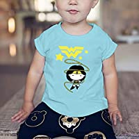 WarnerBros Baby Girls Justice League T-shirts, Blue, 6-9 Months