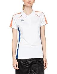 Erima Mujer Masters Blanco de Polo Camiseta, todo el año, mujer, color weiß/Mazarine blue, tamaño 50 [DE 48]