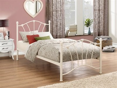 Birlea Sophia Cream 3FT Single Girls Kids Metal Bed Frame