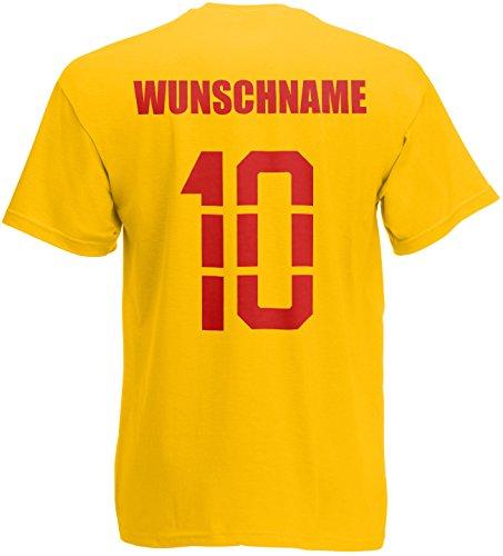 Belgien Belgie T-Shirt Trikot Name Nummer Gelb