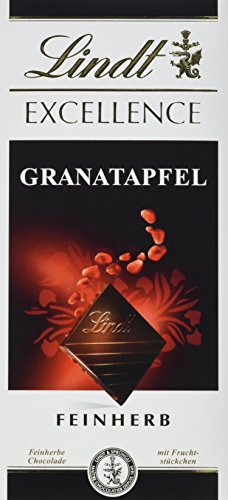 Lindt & Sprüngli Excellence, Granatapfel, 10er Pack (10 x 100 g) (Lindt Schokolade Gourmet)