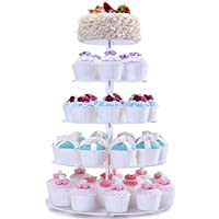 FOBUY Cupcake Stand Acrylic Round Cake Stand for Wedding Party with 4mm Thickness