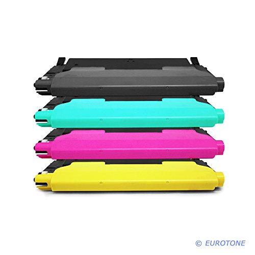 Preisvergleich Produktbild 4x Eurotone Toner für Samsung CLX 3170 3175 FW FN N ersetzt CLT-P4092C alle Farben