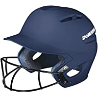 Demarini paradoja bateador casco con máscara de protección de béisbol - WTD5423NALX, Marino