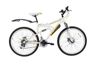 BOSS Whitegold  Mountain Bike - White / Gold, 26-inch