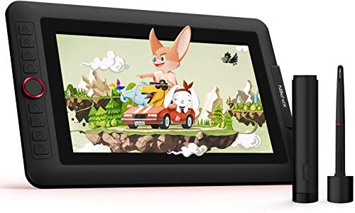 XP-PEN Artist 12 Pro 11,6 Zoll IPS-Display Grafiktablett mit Pen Display Drawing Pen Tablet 60 Grad Neigungsfunktion mit 1 Red Dial
