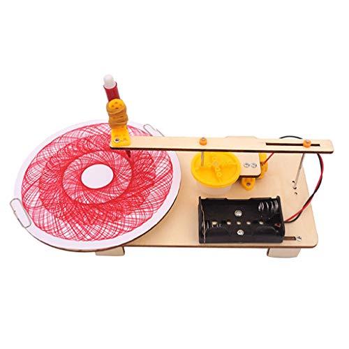 B Blesiya Stuidenten DIY Balsten Wissenschaft Pädagogische Spielzeug, verschiedene Experimente - Elektrischer Plotter Zeichnungs Roboter