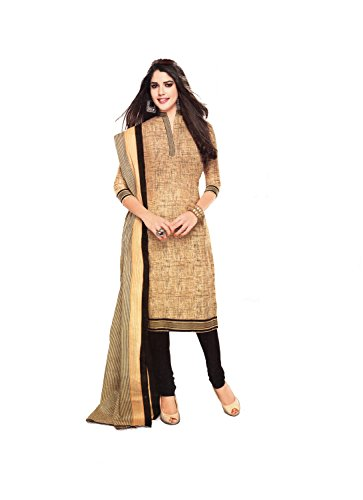 Vaamsi Women's Salwar Suit Dress Material (Cocp12_Beige_One Size)
