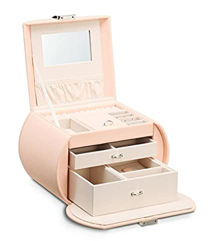 Große Jewelry Box Schmuck verspiegelt Organizer Halskette/Ring/Ohrring Storage Display Pink/Blau/Violett