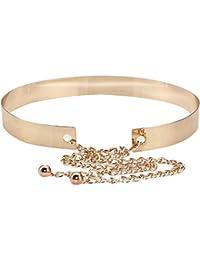 eb3ad5c3019530 AiSi Damen spiegelter Fashion Metall Gürtel Kettengürtel Taillengürtel  Hüftgurt,Ideal für Kleid, Verschiedene Breiten…