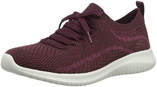 Skechers Damen Ultra Flex-salutations Sneaker, Rot (Burgundy), 38 EU (Rot Damen Sketcher)