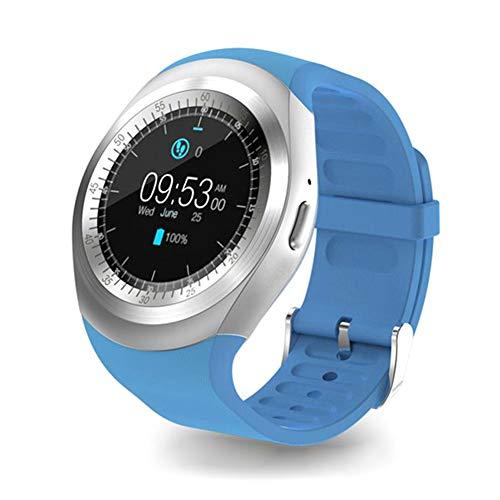 CQ Bluetooth Y1 Smart Watch Android Smartwatch-Telefonanruf GSM SIM-Fernkamera-Informationsanzeige Sport-Pedometer 53252,Blue