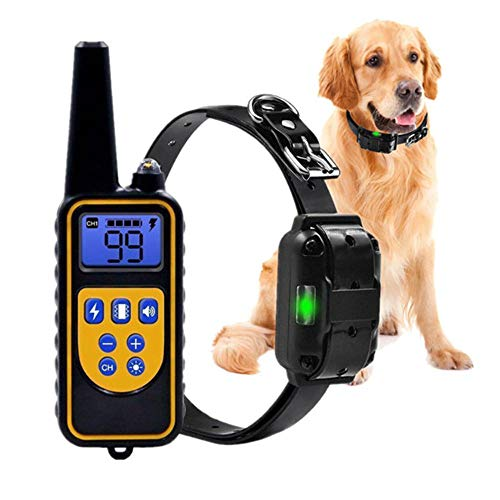 Ankep Hundetraining wasserdicht Hund Halsband, Hundetrainer 800m Fernbedienung Entfernung LCD-Anzeige mit Hintergrundbeleuchtung, Nicht vibrierenden Beep-Modus wiederaufladbare Hund Abstreifenkragen