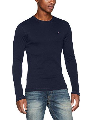 Tommy Jeans Herren Langarmshirt Tjm Original Rib Longsleeve Tee Blau (Black Iris 002)