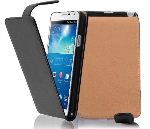 Cadorabo - Flip Style Hülle für Samsung Galaxy NOTE 3 (GT-N9005) - Case Cover Schutzhülle Etui Tasche in OXID-SCHWARZ