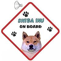 Shiba Inu DOG appendere per auto con ventosa, 222, in gomma