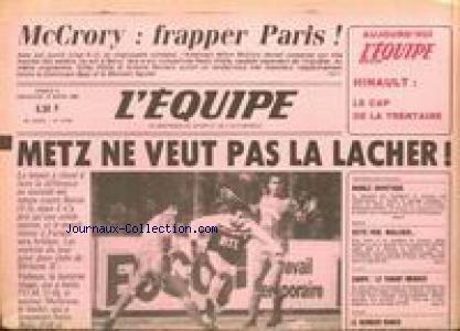 ESPRIT FOLLET (L') [No 12078] du 10/03/1985 - MCCRORY - METZ NE VEUT PAS LA LACHER - PATINAGE ARTISTIQUE - NEIGE - WALLISER - RUGBY - COUPE - VOLLEY - BANCO - HINAULT. par Collectif