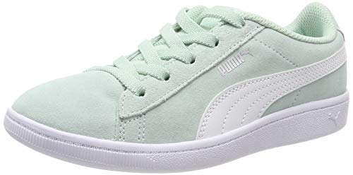 Puma Mädchen Vikky AC PS Sneaker, Blau (Fair Aqua White), 34 EU - Kinder Puma Basketball-schuhe
