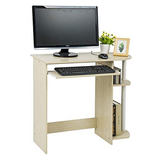 NNDQ Schreiben von Computer-Schreibtisch, Make-up-Waschtisch, Home-Office-Computer-Schreibtisch, mit Tastatur, Bücherregal, für das Studium, Schlafzimmer, Wohnzimmer -