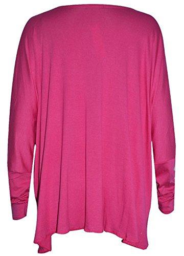 Flirty Wardrobe Top ample pour plus de croix-Femme Rouge - Fuchsia