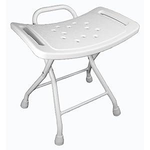 Badehocker, Duschhocker aus Aluminium, mit rutschfesten Füßen