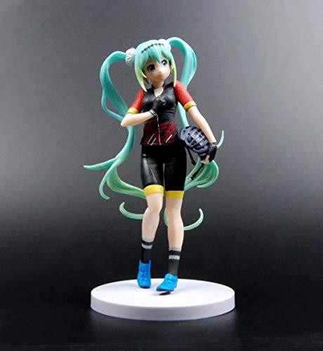 Yvonnezhang Japan Anime Hatsune Miku Racing Kostüm Version Anime 21 cm Action Figure Modell (Racing Kostüm Für Männer)
