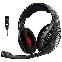 Sennheiser PC373D Gaming-Headset (mit 7.1 Surround-Sound) schwarz/rot