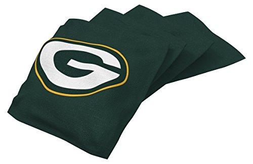 Wild Sports NFL Green Bay Packers Sitzsack-Set mit Kornholz-Motiv, Grün, 4 Stück