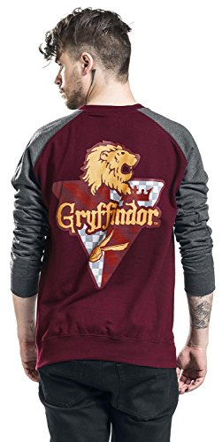 Harry Potter House Gryffindor Longsleeve bordeaux/grau meliert bordeaux/grau meliert