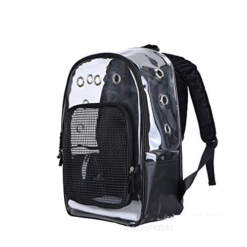 QWERT Haustier Rucksack transparent Großhandel Katze Tasche Haustier Tasche tragbare Tasche Haustier Tasche, Wandern Haustier Rucksack, Mini Haustier Rucksack-Black