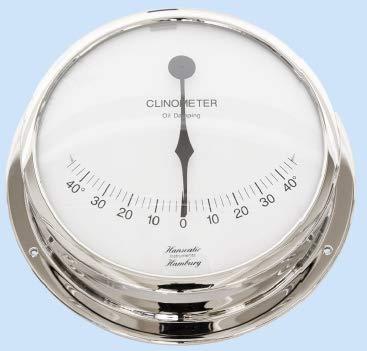 Hanseatic Instruments Schiffs Neigungsmesser Clinometer 155 mm verchromtes Gehäuse