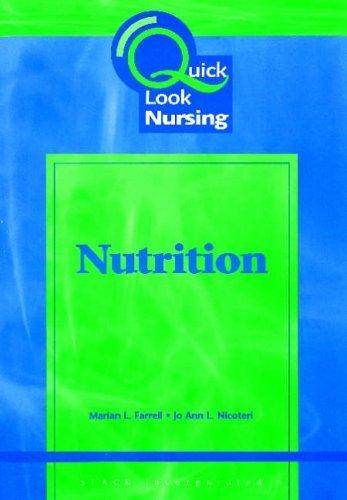 Nutrition (Quick Look Nursing) by Jo Ann L. Nicoteri (2001-04-01) par Jo Ann L. Nicoteri;Marian L. Farrell
